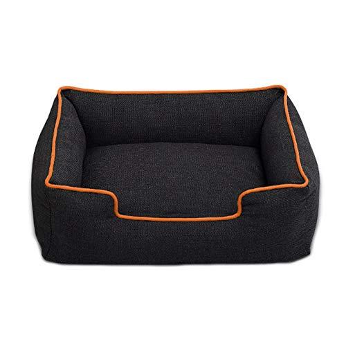 mdtep Weiches Haustierbett für Hunde, Katzenkissen, Matratze, Hundekissen, Schlafsofa, am besten für kleine und mittlere Hunde Waschbares Hundebett (Color : Orange, Size : Large)