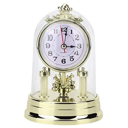 Wifehelper Tischuhren Uhr, Europäische Retro Stil Wohnzimmer Uhr Antike Stille Tischuhr für Wohnkultur(#1)
