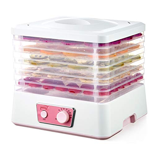 Carl Artbay Máquina de conservación de Alimentos, Mini deshidratador de Alimentos para el hogar de secadores de Frutas para Carne Seca Alimentos para Mascotas 250 vatios,Máquina de Fruta Seca