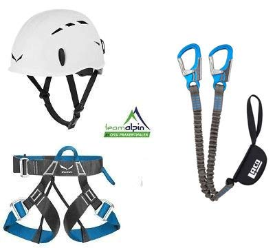 LACD - Set da Arrampicata Via Ferrata PRO Evo 2.0 + Cintura Salewa Via Ferrata Light + Casco Salewa Toxo