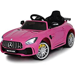 cheap Driving a 12V Mercedes car-Driving a toy-Battery-powered electric car for kids-With parents …