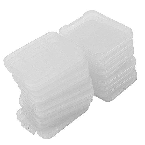 Pinzhi 20X Transparente Plástico Caja Estuche para Estándar SD SDHC Tarjeta de...
