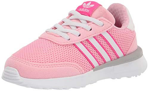 adidas Originals Retroset Zapatillas elásticas para niños, rosa (Rosa claro/Blanco/Rosa), 26 EU