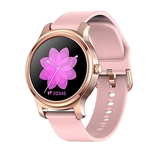 LSQ Smart Watch Women IP67 Pulsera Inteligente Impermeable con Llamadas Bluetooth Pantalla táctil Completa Tarifa cardíaca Rastreador Deportivo,B
