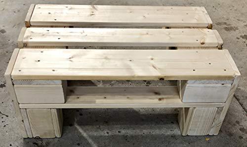 Palettenmöbel ~ Beistelltisch aus gehobelten Vollholz Möbelpaletten ~ Palettenbeistelltisch ~ TIsch ~ Palettentisch
