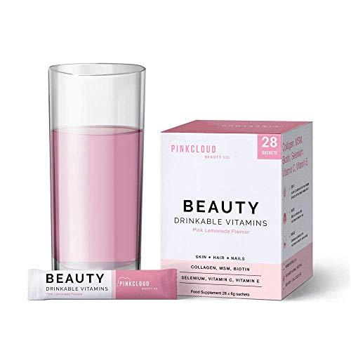 Vitamine di bellezza contenenti collagene marino idrolizzato, biotina, MSM, selenio, vitamina C & E - Supplemento per capelli, pelle e unghie | 1 mese di fornitura (28 bustine)
