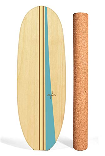Ebb and Flo by GoofBoard - Classic Log - Birch (Lagoon) Surfing Balance Board - Flo-Blocks Included for Easy/Safe Start-Up