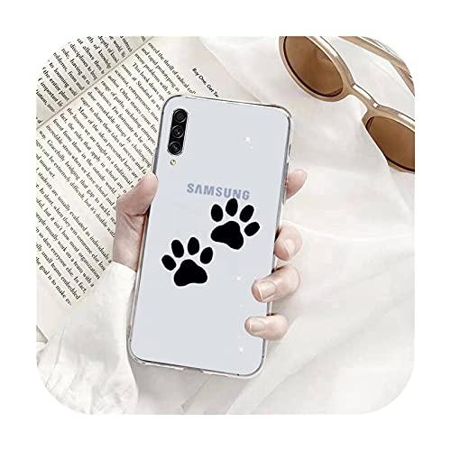 Perro huella de dibujos animados lindo teléfono Fundas transparentes para Samsung A71 S9 10 20 HUAWEI p30 40 honor 10i 8x xiaomi note 8 Pro 10t 11-a4-huawei p20 lite