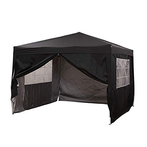 Panana 3 X 3m Pop Up Gazebo Waterproof Outdoor Garden Marquee Awning Party Tent Canopy and Carry Bag Black