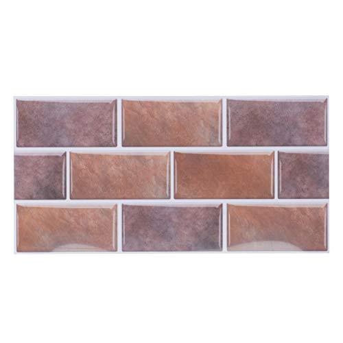 Mothinessto Adhesivo para Azulejos Adhesivo de Pared Impermeable a Prueba de Humedad Baño Dormitorio para Sala de Estar(FG02 Chestnut Coffee)