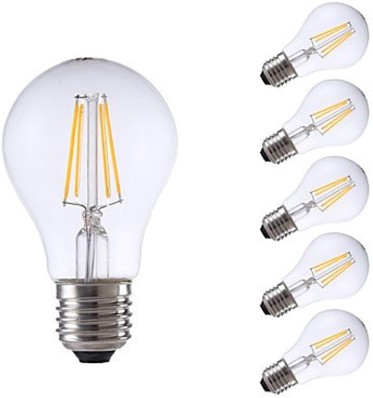 HZZymj-4W E26 E27 LED Glühlampen A60(A19) 4 COB 550 400 lm Warmes Wei Kühles Wei Dimmbar AC 220-240 V 6 Stück , 220-240v