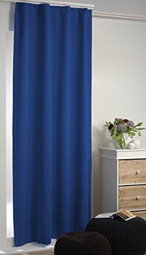 Arsvita Verdunkelungsgardine Vorhang mit Kräuselband, Farbe:blau, Größe:135 x 175 cm