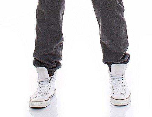 Gennadi Hoppe Herren Jumpsuit Onesie Jogger Einteiler Overall Jogging Anzug Trainingsanzug Slim Fit,grau,X-Large - 7