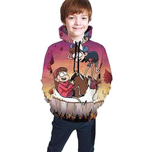 maichengxuan Gravity Falls Novelty Sudaderas con Capucha para Niñas Trend para Adolescentes