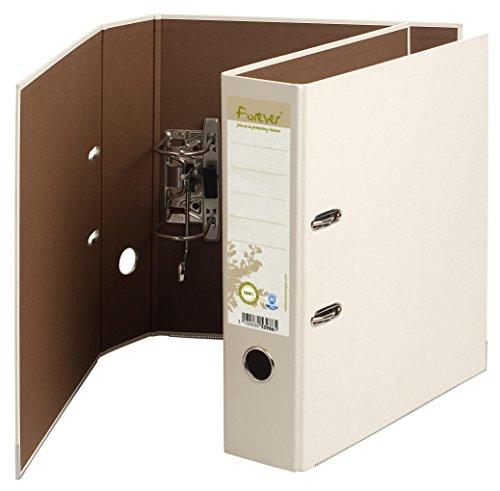 Exacompta 53986SE Ordner (aus Recycling Karton, 2 Ringe, 80mm Rücken, Din A4) 1 Stück elfenbein