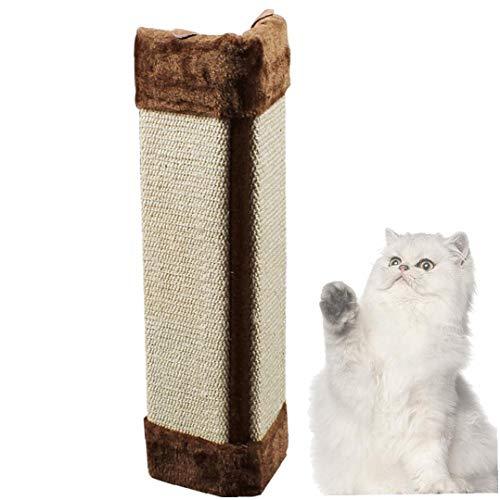 Cat Scratch Mensaje arañazos Gatito Junta Mascotas Esquina de la Pared Rascar Mat Mensaje Plegable para Mascotas sisal Gato Columpio rascador para Gatos (Brown)