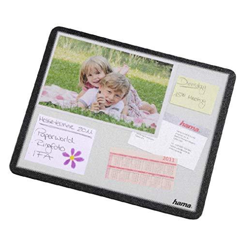 Hama Tapis de souris porte-documents (personnalisable avec photos, images ou cartes postales, 23 x 19,5 cm) Transparent/Noir