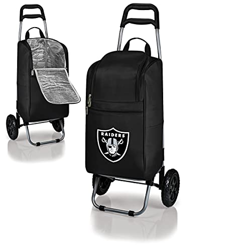 NFL Oakland Raiders Insulated Cart Cooler with Wheeled Trolley, Black