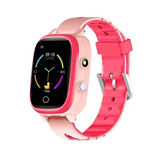 4G Kids Smartwatch GPS Tracker Bambini Intelligente Orologi Telefono per Ragazze Ragazzi Compleanno Bluetoot Video Chiamata Fotocamera Digitale Impermeabile LBS WIFI Locator (rosa)