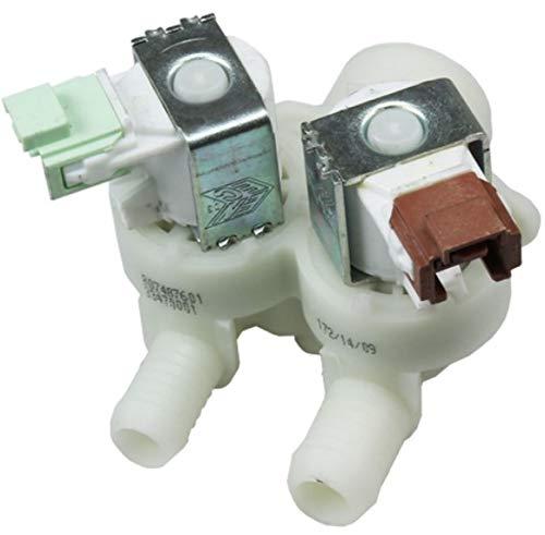 Wassereinlassventil 2-Wege, 180 Grad 12/14 mm, 1325186110 AEG, ELECTROLUX für Waschmaschine