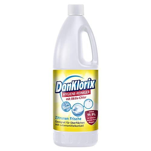 DanKlorix Zitronen Frische Hygiene-Reiniger mit Chlor, 1,5 l
