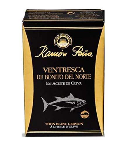 Conserve di pesce e frutti di mare Ramòn Pena Tonno Bianco all'Olio di Oliva Conserva Ittica Artigianale - 1 x 112 Grammi