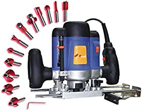 ISC Powerful Router Machine Wood Working Router Machine with Bits 12 Pcs Multi Shapes Router/Trimmer Bit Set Rotary Tool