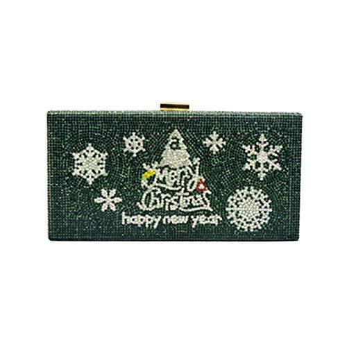 Boji Bolso de mano para mujer con diseño de árbol de Navidad