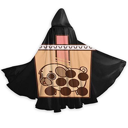 Amanda Walter Erwachsener Umhang für Halloweenn Puglie Boba Tee Unisex Lange Robe Halloween Kostüm Uniform Umhang Kap