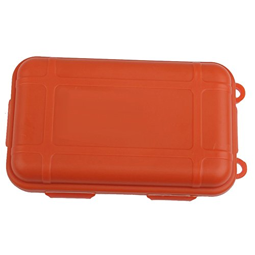 TOOGOO(R) Boite de Rangement Boite Hermetique Antichoc Etanche Boite de Rangement Conteneur de Plein Air Orange L