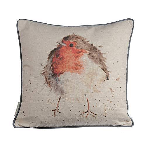 Wrendale Designs - Cushion 40cm x 40cm - The Jolly Robin - Robin
