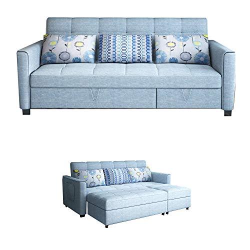 YUYTIN Sofá Cama inclinando sofá Sofá con función de Dormir sofá Cama Plegable Función con Caja de Cama Sofá Sofá Sofá Sofá Softurur
