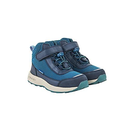 Finkid Vuori - Botas de montaña para niños (transpirables, resistentes al agua y a la suci Seaport Navy 37 cm