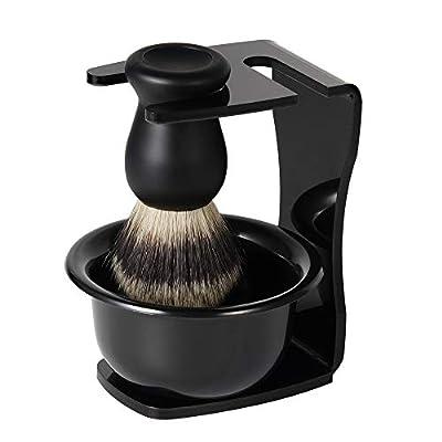 QueenNa 3 in 1 Shaving Brush Kit Nylon Hair Shaving Brush Shaving Soap Bowl Shaving Brush Holder Super Shaving kit Men Manual Shaving Cleaning Tool