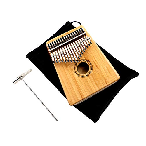 Kalimba KOA-Klavier mit 17 Tasten tragbares Instrument Finger-Tap-Tastatur Musikgeschenk