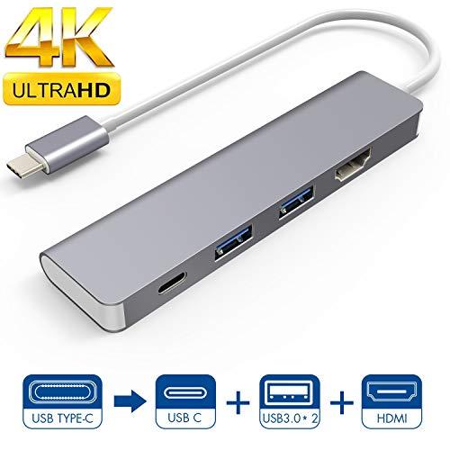 LC-dolida - Hub USB de 4 Puertos, 1 Adaptador HDMI, 1 USB C y 2 USB 3.0 para Samsung Dex (Experiencia de Escritorio)