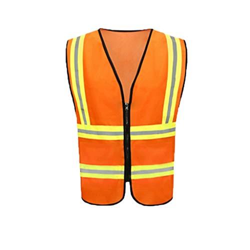 Heren Veiligheidsvest Groen - Oranje - Geel, Reflecterend Vest Hoge Zichtbaarheid Liuyu.