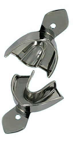 2 Abdrucklöffel Edelstahl Größe M - 3, glatt - nicht perforiert - mit Rim-Lock