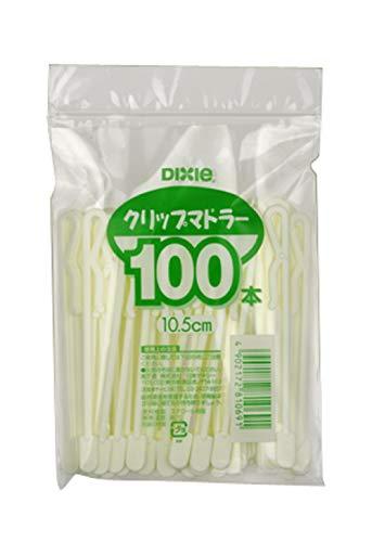 日本デキシー『クリップマドラー10.5cm 100本チャック式』
