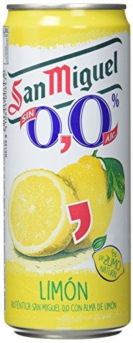 San Miguel Cerveza Limon - Paquete de 24 x 330 ml - Total: 7920 ml