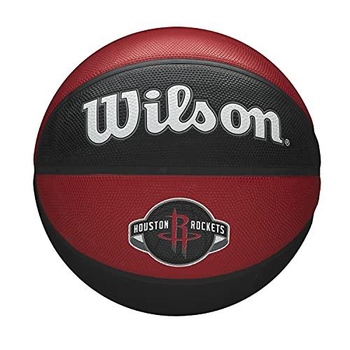 Wilson Pallone da Basket NBA TEAM TRIBUTE, HOUSTON ROCKETS, Utilizzo Outdoor, Gomma, Misura: 7