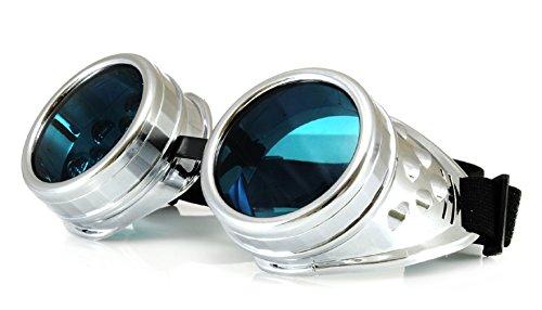 4sold (TM Steampunk Antique Copper Cyber Goggles Rave Goth Vintage Victorian Sonnenbrillen Inklusive GRATIS UV400 Sonnenbrille Objektiv und zusätzliche Aufkleber alle Bilder sehen