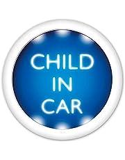 ライティングボタン【CHILD IN CAR】車マグネットステッカー チャイルドインカー 丸型15cm