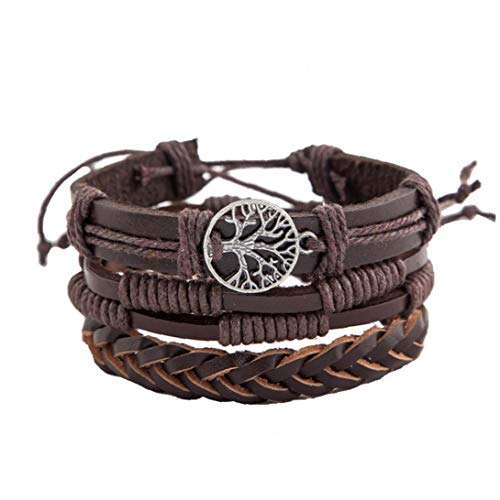 Multi-Layered Chic Vintage Bracelets Leather Wristband(Tree of Peace) Gifts for Women