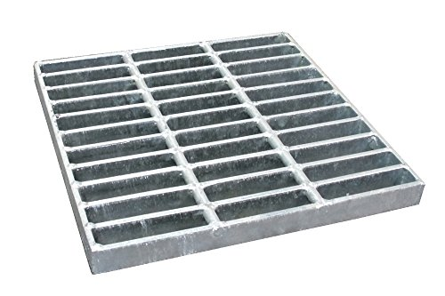 NDS 1215 Square Catch Basin Drain Grate, 12 in, Galvanized Steel