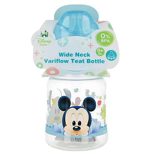 BIBERON CUELLO ANCHO 150 ML | TETINA SILICONA 3 POSICIONES MICKEY MOUSE - DISNEY - BABY PAINT POT