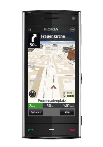Nokia X6 Smartphone (8.1 cm (3.2 Zoll) Bildschirm, Touchscreen, 8GB interner Speicher, 5 Megapixel Kamera) blau