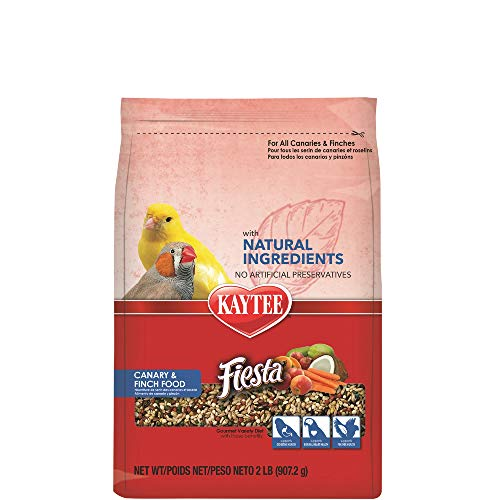 Kaytee Fiesta with Natural Colors Canary/Finch Food, 2 lbs.