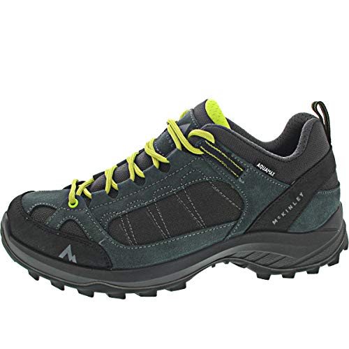 McKINLEY Outdoor-Chaussures Travel Comfort AQX M, Walking Shoe Homme, Anthracite/Green FO, 48 EU