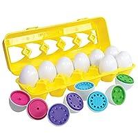 KidzlaneCount & Match Egg Set - 幼児用玩具 - 未就学児童教育 色と数を認識するスキルを身に付けるおもちゃ